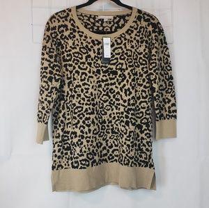 Banana Republic cheetah sweater sz Medium